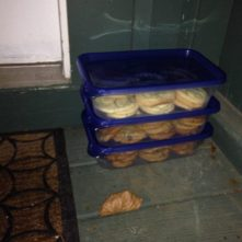 During the Campaign, we would come home and find cookies on our doorstep. People loved baking for the guys. Bless their hearts. I was thankful for every crumb!