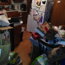No, not a tornado. Just the aftermath of Packing Day. :)