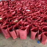 The filled Gift Bags, waiting for distribution!