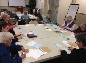 The senior group from a local church volunteered to sign Christmas cards for us, adding a personal greeting for each man. <3