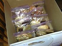 Ten cookies in every bag.