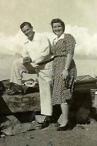 Mommy & Daddy on their honeymoon, married 1 February 1955